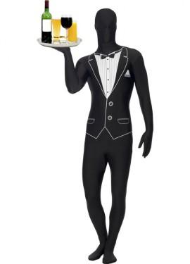 Déguisement Combi Seconde Peau Smoking Costume plusieurs tailles