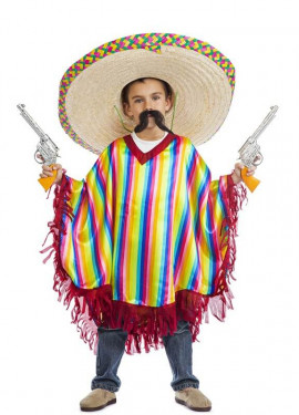 Disfraz o Poncho de Mexicano para niño