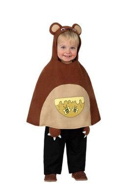 Disfraz o Poncho de Osito talla única de bebé