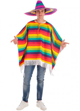 Disfraz o Poncho Mexicano Arco Iris
