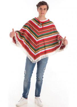 Disfraz o Poncho Mexicano de Pico