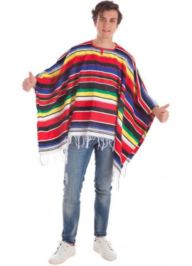 Déguisement ou Poncho Monterrey Mexicain