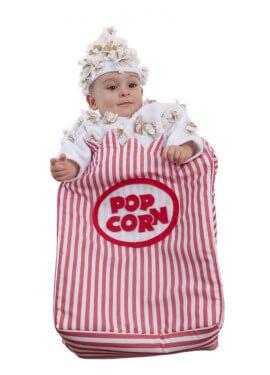 Disfraz o saquito de cartón de palomitas para bebés