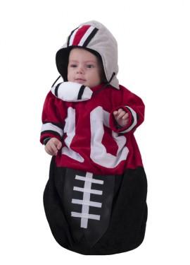 Disfraz o saquito de fútbol americano para bebés