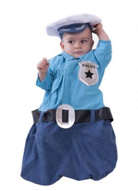 Disfraz o saquito de policía para bebés
