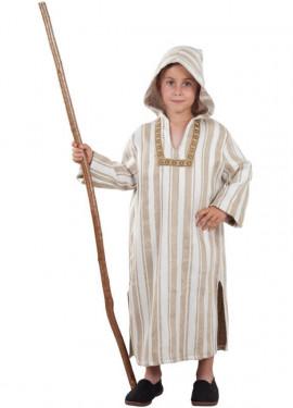 Disfraz o Túnica de Árabe con Capucha para niños