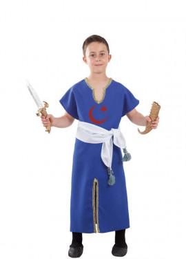 Disfraz o Túnica de Berebere Azul para niño
