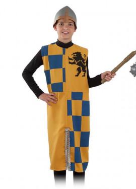Disfraz o Túnica de Caballero Medieval con León para niño