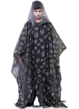 Disfraz o Túnica de Calaveras para adultos 175 cm