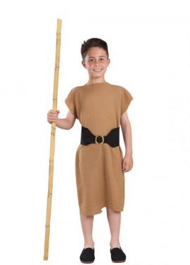 Costume o Tunica da Pastorello marrone per bambino