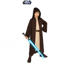 Disfraz o Túnica Jedi Clásica de Star Wars para niño