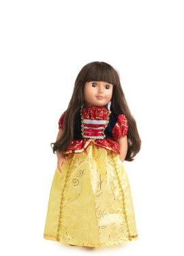 Disfraz o Vestido para muñeca de Blancanieves