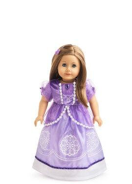 Disfraz o Vestido para muñeca de Princesa del Amuleto
