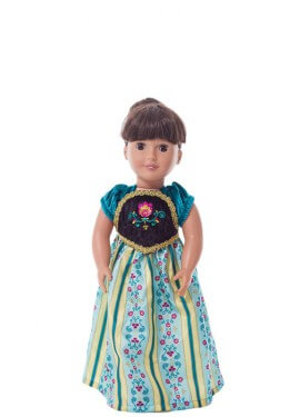 Disfraz o Vestido para muñeca de Princesa Escandinava