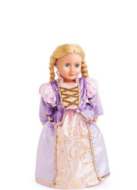Disfraz o Vestido para muñeca de Rapunzel clásica