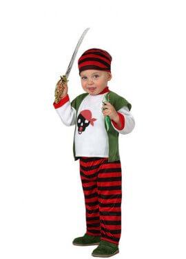 Costume per bambini di strisce pirata
