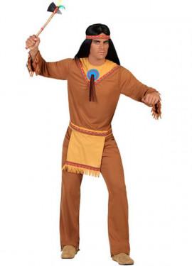 Costume per uomini indiani con spilla blu