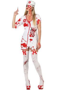 Disfraz para mujer de Enfermera Zombie Sangrienta
