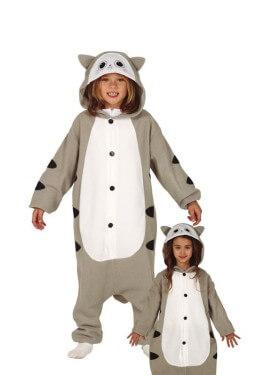 Disfraz Pijama de Gato Gris para niños