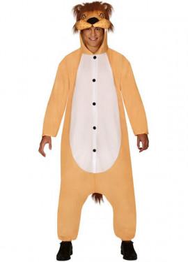 Déguisement de pyjama lion pour adultes