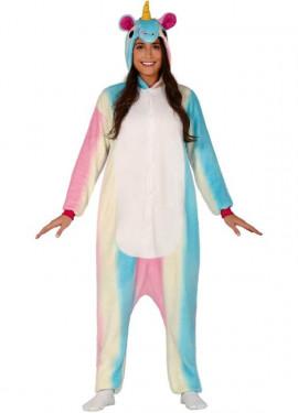 Disfraz Pijama de Unicornio Multicolor para adultos