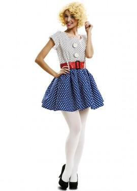 Disfraz Pop Art de los años 50 o 60 para mujer