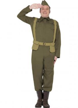 Déguisement de Militaire 2º Guerre Mondiale homme plusieurs tailles