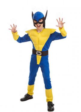 Disfraz Súper Lobo Amarillo para niño