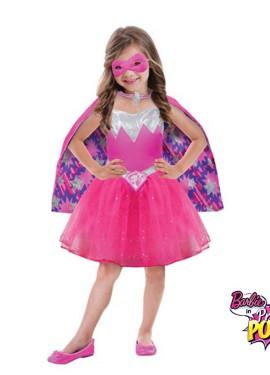 Disfraz superheroína princesa Barbie Power para niñas