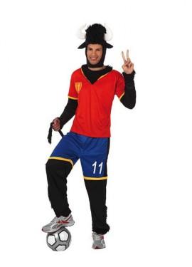 Déguisement Taureau Équipe Espagnole de Foot pour homme