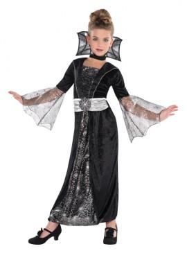 Disfraz Vampira condesa oscura para niñas para Halloween