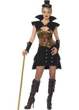 Disfraz Vampira Steampunk Corto para Mujer talla M