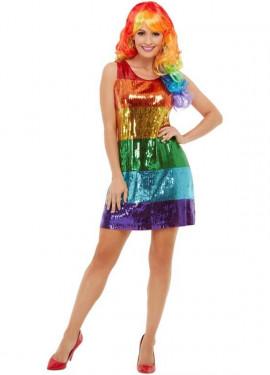 Robe Arc-en-Ciel à Paillettes Gay Pride Day LGBT pour femme