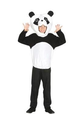 Disfrazde Oso Panda para niño