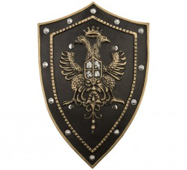 Escudo Foam Medieval color Negro de 51 cm