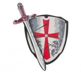Escudo Y Espada de Caballero EVA 35x55 cm