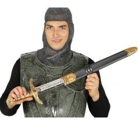 Espada Medieval con funda 70 cm