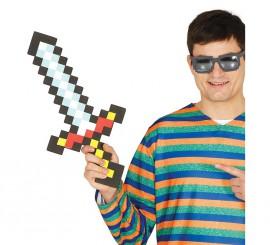 Espada Pixelada de goma EVA.