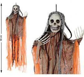 Esqueleto colgante Naranja 90 cm