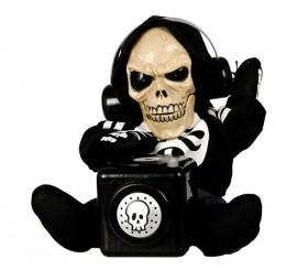 Esqueleto DJ con sonido y movimiento de 27 cm
