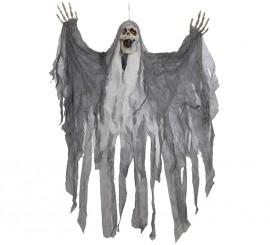 Esqueleto gris con luz, sonido y movimiento 95 x 120 cm