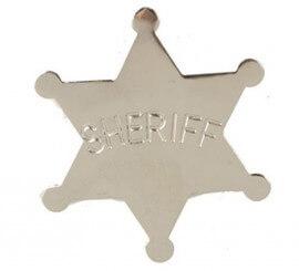 Estrella de Sheriff del Oeste de 5,5 cm