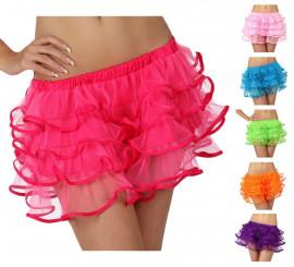 Falda con volantes para chicas talla S en varios colores