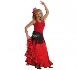 Falda Flamenca o Rociera roja para mujer