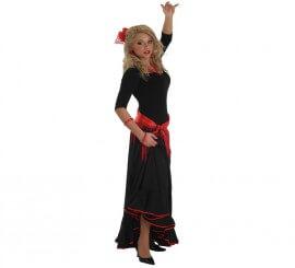Falda Flamenca o Rociera negra para mujer