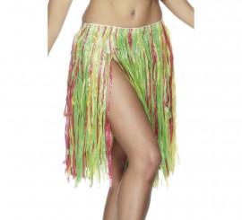 Falda Hawaiana multicolor con cintura elástica 56cm