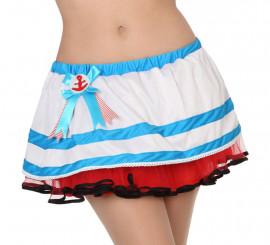 Falda marinera con tul para mujer
