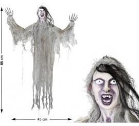 Fantôme Sinistre Suspendu avec Cheveux 85x45 cm