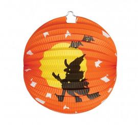 Farol Bruja de papel para Halloween de 26 cm