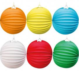 Lanterne Ronde de 20 cm en différentes couleurs